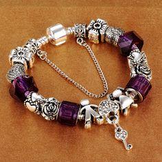 HOMOD European Lock of Luck Charm Bracelets With Boy&Girl Charm Beads fit Brand Bracelets For Women DIY Jewelry gift
