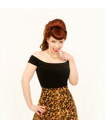 Heart of Haute Fashion Black Marilyn Top