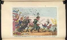 13 April 1814.Bodleian Libraries, Cruikshank,George,1792-1878 [artist] A grand manoeuvre! or,: the rogues march to the island of Elba Satire on Napoleon's exile to Elba. (British political cartoon)