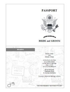Make a DIY Passport Invitation using my free printable and easy ...
