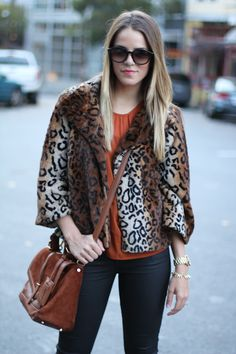 Julia looking fierce in animal print and the Renegade Cluster Bracelet by Stella & Dot.