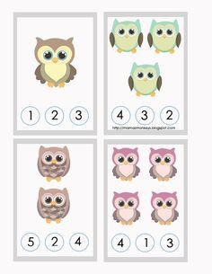 Preschool Math, Kindergarten Worksheets, Fun Math, In Kindergarten, Owl Activities, Kindergarten Special Education, Math Notes, Online Classroom, Math Fractions