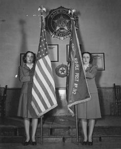 Identical twins carry the colors of Broad Ripple Unit No. They are Helen and Helena Armantrout, daughters of Mrs. Lena Armantrout, also a member of the Unit. The only way.