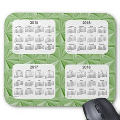 Jade Diamonds 4 Year 2015-2018 Calendar Mousepad
