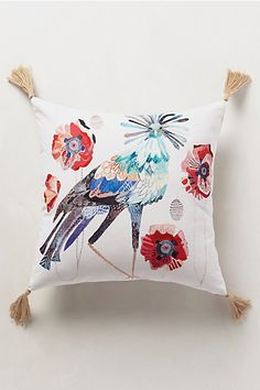 Peafowl Pillow - anthropologie.com #anthrofave