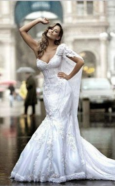 Create design,love the one side dress,so gorgeous lace wedding dresses