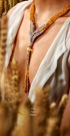 Parts Of The Earth, Golden Harvest, Fields Of Gold, Beaded Necklace, Chanel, Elegant, Jewelry, Style, Fashion