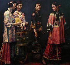 Chen Yifei - Beauties on Promenade