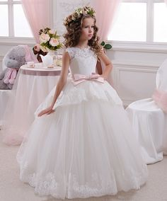 Marfil vestido tul vestido de la muchacha de por PrincesByDarina