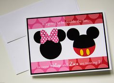 Mickey and Minnie Invitations by ETESandCCPhotography on Etsy, $12.50