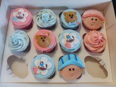 Babyshower cupcakes :)