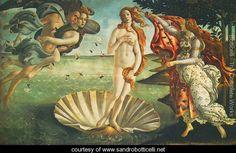 Birth of Venus (La Nascita di Venere) - Sandro Botticelli (Alessandro Filipepi) -