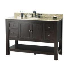 "48"" bathroom vanity home depot"
