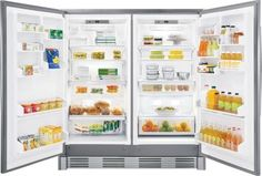 Images of Frigidaire Professional Energy Star Rated 19 cu. Built In All Refrigerator With SpaceWise Organization System and SpaceWise Adjustable Glass Shelves in Smudge-Proof Stainless Steel Stainless Steel Refrigerator, Commercial Appliances, Frigidaire, Upright Freezer, Stainless Steel Counters, Lowes Home Improvements, Glass Shelves, Kitchen Appliances, Home
