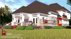 1 new message Architect Design House, Duplex Design, House Design, Bungalow Style House, Bungalow Designs, Plan Design, Floor Design, Luxurious Bedrooms, Building Design