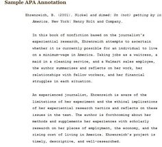 Website Gives Great Example And Explanation Of Apa Style For