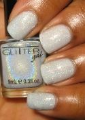 H723 Light as a Feather Glitter Gal 3D Holographic Nail Polish