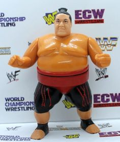 USED WWF Hasbro Yokozuna Red Wrestling Figure Series 8 Red Card Very clean, signs of play, see detailed photos Great action, works well Wwf Hasbro, Wrestling Superstars, Hulk Hogan, Anatomy Reference, Wwe, Ronald Mcdonald, Action Figures, Legends, Champion
