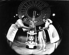 Still from movie Fantastic Voyage.  Alan Paul Wurtzel standing near center.