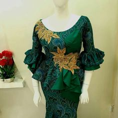 latest ankara styles for everyone African Lace Styles, African Lace Dresses, Latest African Fashion Dresses, African Print Fashion, Africa Fashion, African Blouses, Ankara Long Gown Styles, Latest Ankara Styles, African Traditional Wedding Dress