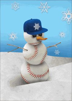 Who knew you could get baseball theme Christmas Cards? <3
