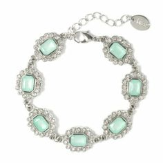 Square Gems Charm Bracelet
