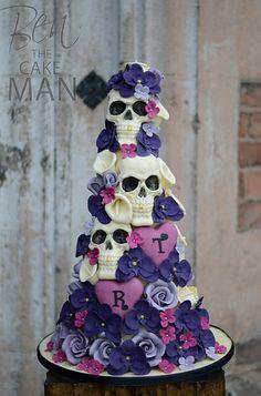Skull wedding cake.