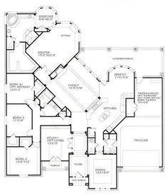 1087 best plans for the house images floor plans house floor Farmhouse and Barn 3258 sq ft a popular 1 story br scarborough