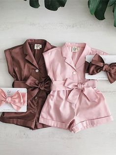 Jumpsuits For Girls, Girls Rompers, Baby Girl Dresses, Baby Dress, Baby Alive Food, Twin Baby Girls, Kids Outfits, One Piece, Clothes