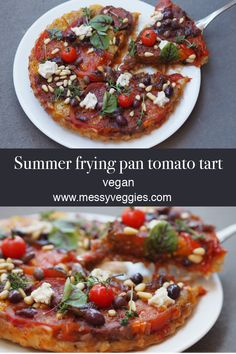 Our friend Talitha AKA The Plantritionist shared this delicious Summer frying pan tomato tart with us.