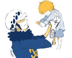 Trafalgar D. Water Law and Donquixote Rocinante (Corazon) (Corasan, Cora-san) One piece
