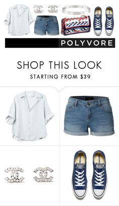 """""""minimalist"""" by julietacelina ❤ liked on Polyvore featuring LE3NO, Chanel, Converse and Cartier"""