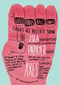 Zine and Not Heard gig posters