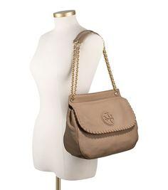 Tory Burch Marion Saddle Bag in clay beige  485 My Christmas List fa2b84e4990ac