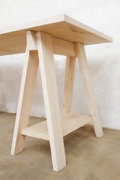 Sawhorse Desk Detail