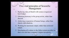 Scientific Management Approach of Frederick Winslow Taylor
