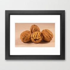 Walnuts Framed Art Print by Karl-Heinz Lüpke - $30.00