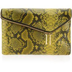 Henri Bendel Debutante Snake Clutch (410 AUD) ❤ liked on Polyvore