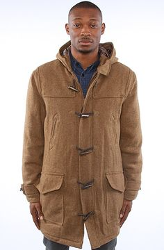 The Pearson Duffle Coat in Brown Caramel by Spiewak