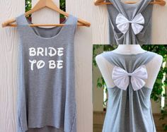 BRIDE-TO-BE Bow Tank Top. Racerbackbow. Bride to be. Tank Top. Bridal Tank Top. Bride-to-Be. Bachelorette Party Tank Tops. Work out tank top