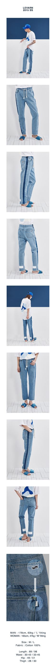 LINE-WASHED JEANS