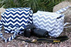 Large Chevron Print Digital Camera Bag  20 off by Justgetpampered, $43.99