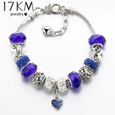 Lady nouvelle arrivée Argent Sterling 925 Balck Pave Zircone cubique Verre Charm Beads Fit Bracelets