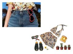 """""""little darling"""" by sirijohans ❤ liked on Polyvore featuring Cutler and Gross and Dr. Martens"""