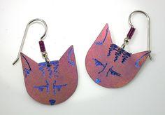 Image of Pink Pussy(cat) Earrings Jewelry Design, Cats, Earrings, Pink, Image, Noel, Ear Rings, Gatos, Stud Earrings