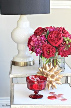 The House of Silver Lining: Pretty Pink + Red Valentine's Day Decor