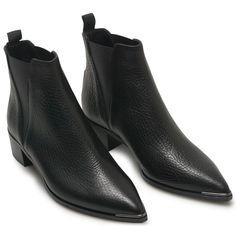 JENSEN BOOT BLACK GRAIN LEATHER