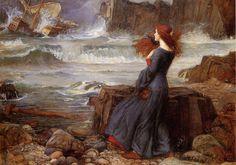 'Миранда - The Tempest'  Исполнитель: Джон Уильям Уотерхаус Дата: 1916 Носитель: холст, масло Размер: 98 х 136 см