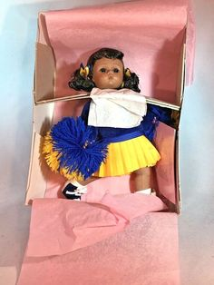 "Madame Alexander African American Cheerleader 8"" Doll 324-1 Never Displayed. #MadameAlexander #Dolls"