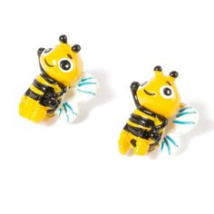 Bumblebee Front and Back Stud Earrings